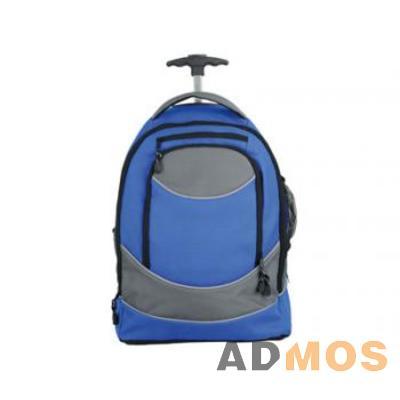 синий.  Артикул: 325622821.  Рюкзак на колесиках с 1 отделением, передним карманом на молнии и выдвижной...